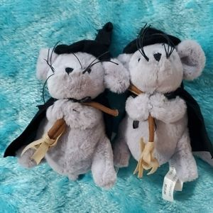 (4/$25) Witch mouse stuffy